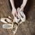 ballet dancer holding a ballet pointe stock photo © o_lypa
