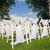 luogo · cerimonia · di · nozze · erba · bianco · sedie · arch - foto d'archivio © o_lypa
