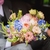 groom with bouquet in the wedding car stock photo © o_lypa
