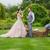arco · vestido · de · novia · dama · de · honor · novia · boda · día - foto stock © o_lypa