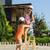 liebenswert · kleines · Mädchen · Strand · ein · sonnig - stock foto © o_lypa