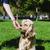 lány · etetés · kutya · fiatal · fajtiszta · amerikai - stock fotó © O_Lypa