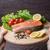 лосося · Ломтики · черный · икра · продовольствие - Сток-фото © o_lypa