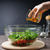 saludable · mujer · verduras · frescas · ensalada · aceite · de · oliva · tomate - foto stock © o_lypa