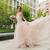 feliz · belo · noiva · ao · ar · livre · rosa · vestido · de · noiva - foto stock © O_Lypa