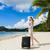 чемодан · тропический · пляж · лет · океана · синий · песок - Сток-фото © o_lypa
