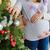 terhes · pár · karácsonyfa · férj · ölel · feleség - stock fotó © O_Lypa