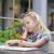 csinos · gyermek · olvas · menü · kávézó · imádnivaló - stock fotó © O_Lypa