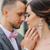 jonge · bruiloft · kaukasisch · paar · zoenen · buitenshuis - stockfoto © O_Lypa