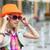 kislány · napszemüveg · portré · lány · divatos · ruházat - stock fotó © O_Lypa
