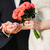 bride and groom with bouquet stock photo © o_lypa