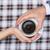 szerelmespár · tart · együtt · csésze · kávé · kezek - stock fotó © o_lypa