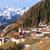 山 · 村 · アルプス山脈 · 伝統的な · 建物 · 空 - ストックフォト © obencem