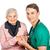 idős · törődés · idős · nő · hasznos · orvosi · asszisztens - stock fotó © Obencem