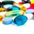 таблетки · красочный · медицинской · синий · фон - Сток-фото © obencem