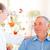 idős · férfi · beszél · egészség · látogató · otthon - stock fotó © obencem