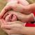 mãos · pai · mãe · manter · recém-nascido · bebê - foto stock © obencem