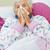 mulher · assoar · o · nariz · cama · relaxante · casa · feminino - foto stock © ocskaymark