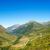 Blauw · bergen · Geel · heuvels · hemel · voorjaar - stockfoto © ocusfocus