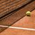 tennisbal · net · klei · rechter · shot · ondiep - stockfoto © ocusfocus