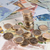 монетами · евро · изолированный · белый - Сток-фото © ocusfocus