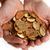 Man hands full of coins stock photo © ocusfocus