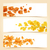 decorativo · marrom · folhas · padrão · conjunto · isolado - foto stock © odina222