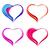 colorful abstract hearts stock photo © odina222