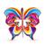 抽象的な · 春 · 虹 · 蝶 · 実例 · 紙 - ストックフォト © odina222