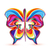 resumen · primavera · arco · iris · mariposas · ilustración · papel - foto stock © odina222