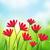 verde · prado · céu · primavera · sol - foto stock © odina222
