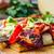 fatia · pizza · pimentas · bacon · ervas - foto stock © oei1