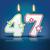 рождения · свечу · числа · до · 80 · пламени · прибыль · на · акцию - Сток-фото © ojal