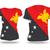 Папуа-Новая · Гвинея · флаг · вектора · белый · текстуры · краской - Сток-фото © ojal