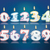 sayılar · kırmızı · vektör · dizayn · ayarlamak · Internet - stok fotoğraf © ojal