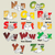 fruits and vegetables alphabet from n to z stock photo © ojal