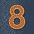番号 · 革 · ジーンズ · 手紙 · ファブリック · 布 - ストックフォト © ojal