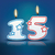 Birthday candle number 15 stock photo © ojal