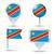 düğme · simge · Kongo · bayrak · harita · beyaz - stok fotoğraf © ojal