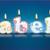 escrito · ardente · velas · luz · aniversário · laranja - foto stock © ojal