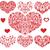 ayarlamak · kalpler · model · biçim · kalp · düğün - stok fotoğraf © oksanika