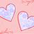 quadro · corações · dois · rosa · floral · ornamento - foto stock © Oksvik