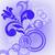 Blue flower and circles stock photo © Oksvik