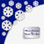 kék · karácsonyi · üdvözlet · papír · hópelyhek · keret · hó - stock fotó © Oksvik