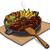 carne · hortalizas · ilustración · pan · cena - foto stock © olegtoka