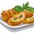 pollo · ensalada · ilustración · placa · cena - foto stock © olegtoka