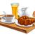 ontbijt · thee · melk · dienblad · bloemen · voedsel - stockfoto © olegtoka