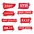 hirdetés · promóció · matricák · szett · különböző · címkék - stock fotó © olegtoka