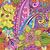turuncu · sarı · Retro · çiçek · vektör - stok fotoğraf © olgadrozd