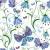 sin · costura · floral · patrón · caótico · flores · mariposas - foto stock © olgadrozd